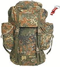ORIGINAL Bundeswehr KAMPFRUCKSACK 65 LITER FLECKTARN TOP ZUSTAND ! + AOS-Outdoor® Schlüsselanhänger