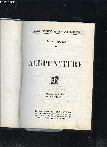 ACUPUNCTURE + Atlas- 2 tomes en 2 volumes