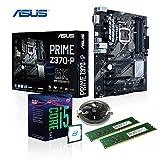 Memory PC Aufrüst-Kit Intel Core i5-8500 8. Generation (SixCore) Coffee Lake 6x 3.0 GHz, Turbo 6x 4.10 GHz, 8 GB DDR4, ASUS PRIME Z370-P, Intel UHD 630 4K, USB 3.1 Gen.1, SATA3, 7.1 Sound, 2x M.2 Sockel, GigabitLan, HDMI, DVI, MultimediaKIT, CoffeeLake, komplett fertig montiert und getestet
