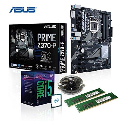 Memory PC Aufrüst-Kit Intel Core i5-8500 6X 3.0 GHz, Turbo 6X 4.10 GHz, 16 GB DDR4, ASUS Prime Z370-P, Intel UHD 630 4K, komplett fertig montiert und getestet