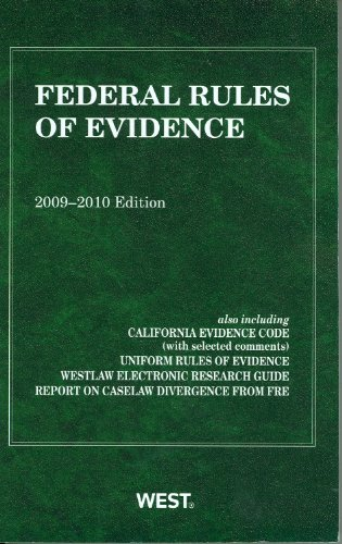 federal-rules-of-evidence-2009-2010-edition
