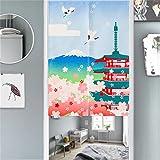 MR FANTASY Japanischer Noren Doorway Vorhang/Tapisserie Raumteiler Baumwoll Leinen Tempel 85x120cm