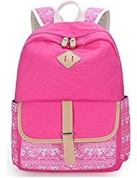 04d275a36c8 Keshi Canvas Cute Backpack Bag, Fashion Cute Lightweight Backpacks for Teen  Young Girls
