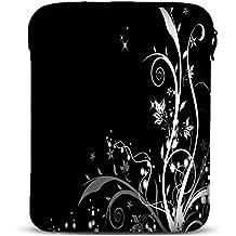 MySleeveDesign – Funda universal de neopreno para iPad Pro 9.7 , Air 2 y tablet de 9.7 / 10 / 10,1 pulgadas – VARIOS DISEÑOS Y COLORES - Flowers White