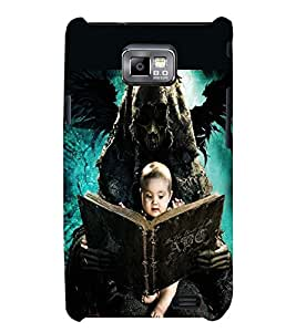 PRINTSWAG BABY WITH GHOST Designer Back Cover Case for SAMSUNG GALAXAY S2