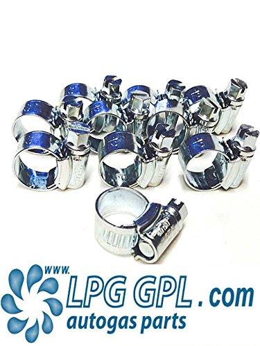 Preisvergleich Produktbild LPG AUTOGAS GPL Autogas Schlauch Jubilee Clips 9,5–12mm x 10extra breit