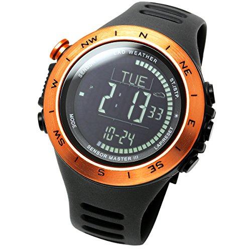 [LAD WEATHER] Schweizer Sensor Höhenmesser Barometer Digitaler Kompass Wettervorhersage Thermometer Schrittdaten Multifunktionsuhren