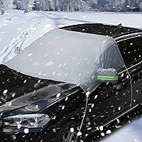 PowerTiger Auto Abdeckung Scheibenschutz Frostabdeckung Windschutzscheiben Winterschutz Scheibenabdeckung Winterabdeckung Frontscheibe Eisschutz Schneeschutz Hitzeschutz UV-Schutz