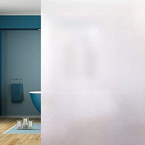 Funlifly Fensterfolie Selbsthaftende Milchglasfolie Blickdichte Sichtschutzfolie Statisch Haftend Anti-UV für Büro Wohnzimmer Schlafzimmer Matt 90 x 200 cm