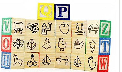 Homies International 1 Unit Abc 123 Wooden Blocks Letters Numbers