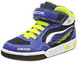 Geox Jungen JR Gregg A Hohe Sneaker, Blau (Royal/Lime), 35 EU