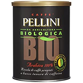 Pellini Bio Organic Arabica 100% Ground Coffee Tin 250 g (Pack of 2)