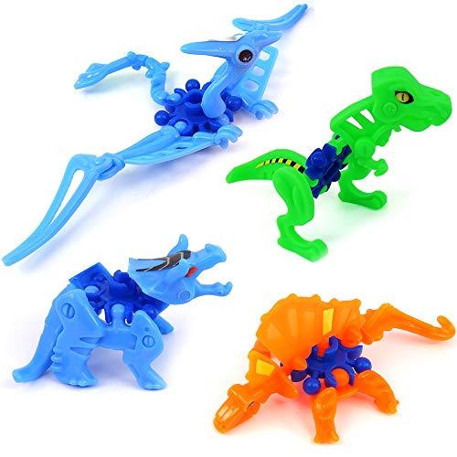 German Trendseller 6 x Dinosaurier Figuren ┃ Für Coole - Dino Kinder - Partys ┃ Mitgebsel ┃ Kindergeburtstag ┃ Spielen Lernen & Sammeln ┃ 6 x Dinos (Cool Tier Zeug)