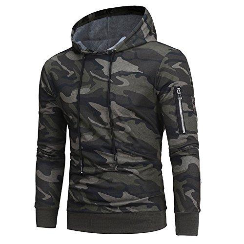 Herren Hoodie Wintermantel Langarm Camouflage Hoodie Warme Baumwolle Kapuzenpulli Tops Jacke Mantel Outwear Herbst Winter Kapuzenpullover...