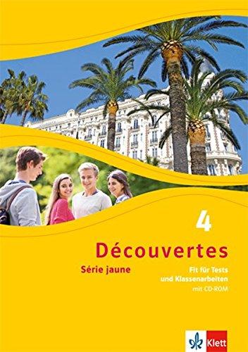 Découvertes Série jaune 4. Fit für Tests und Klassenarbeiten. Arbeitsheft mit Lösungen und Audio-CD par From Klett Ernst /Schulbuch