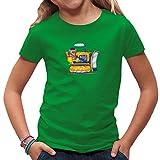Fun Kinder T-Shirt - Comic Bulldozer by Im-Shirt - Kelly Green Kinder 12-14 Jahre