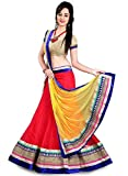 Arawins Women's Cotton Silk Semi-Stitched Gown With Jacket(T20_Red_Red_Free Size)