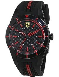 Scuderia Ferrari Orologi Herren-Armbanduhr Red Rev Analog Quarz Silikon 0840004