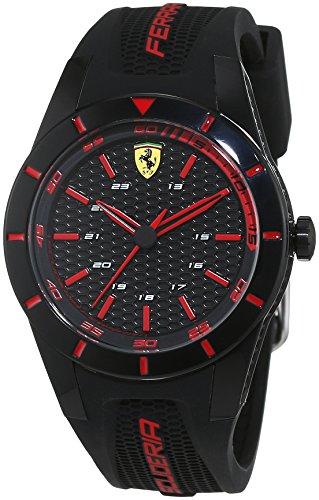 scuderia-ferrari-orologi-0840004-montre-homme-quartz-analogique-bracelet-silicone-noir