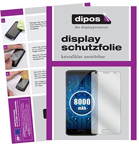 dipos I 2X Schutzfolie klar passend für Oukitel K8000 Folie Bildschirmschutzfolie