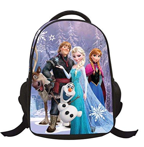 Missfox school bag zaino frozen principesse anna e elsa zainetto ragazze asilo backpack h2