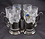 Combination 6 Russian CUT Crystal Drinki...