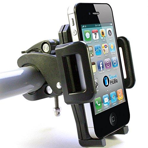 DeineHuelle Fahrrad Halter für [Apple iPhone X / 10/8 / 8 Plus / 7/7 Plus / 6/6 Plus / 6s / 6s Plus / 6/5 / 5s / 5c / 4 / 4s / 3 / 3G / 3Gs / XS Max/XS/XR/SE] Lenker Halterung Apple Iphone 3g Handy