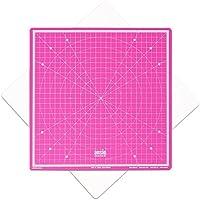 Rotativa auto curación corte Mat Imperial 13 pulgadas x 13 pulgadas-rosa