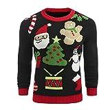 JYJM 2018 Weihnachten männer Weihnachten gedruckt Winter Pullover gestrickte top Striped Pullover Outwear Bluse Altus Herren Softshell Jacke Outdoor Gefütterte Herren Winterjacke Kapuze Schwarz