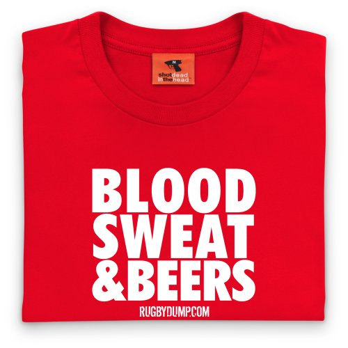 Blood Sweat And Beers T-shirt, Uomo Rosso
