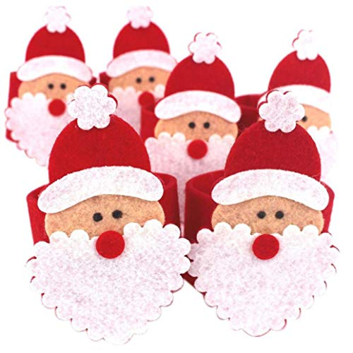 Vektenxi  Weihnachten Santa Serviettenring Party Table Decor Serviettenhalter 6Pcs nützlich