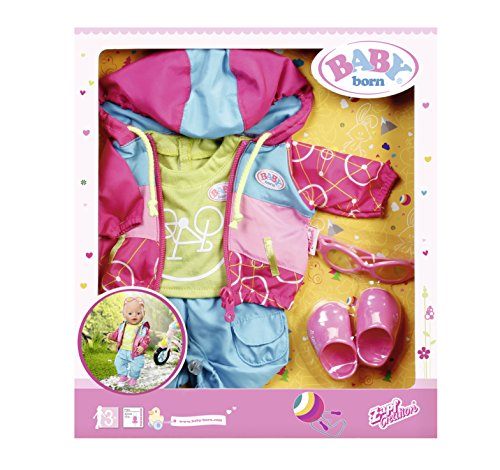 Zapf Baby Born Play&Fun Deluxe Biker Outfit Juego de ropita para muñeca - Accesorios para muñecas (Juego de ropita para muñeca, 3 año(s),, 43 cm, Chica, 5 Pieza(s))