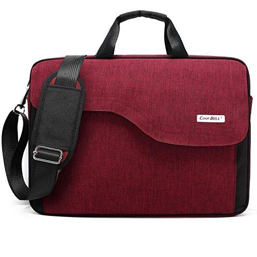 CoolBell Umhängetasche aus Nylon für Notebook mit 15,6Zoll mit Schulterriemen–für iPad Pro/Notebook/MacBook/Ultrabook/Hochschulen/für Herren und Damen 15,6 Pollici rot