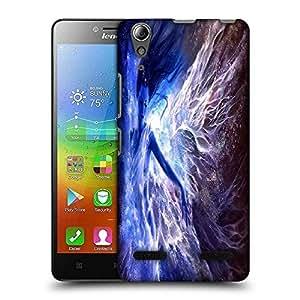 Snoogg Blue Fairy Fantasy Designer Protective Phone Back Case Cover For Lenovo A6010 Plus