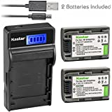Kastar Camera Batteries (Pack Of 2) With SLIM LCD Charger For Sony NP-FP51 NP-FP50 & DCR-30 DVD105 DVD203 DVD305 DVD92 HC20 HC21 HC26 HC30 HC32 HC36 HC40 HC42 HC46 HC65 HC85 HC96 SR40 SR60 SR80 SR100 TRV460E