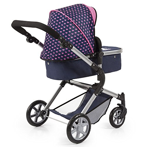 Bayer Design 18154AA City Neo Dolls Pram with Changing Bag, Blue/Pink  Bayer-Design