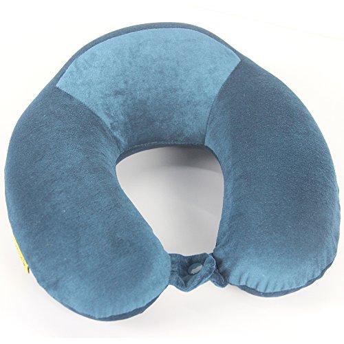 U-förmige Memory-Foam-Kissen mit Kopf Hals Unterstützung perfekt zum Schlafen lesen Mittag Rest Zug Home Office Flugzeug Auto Reisen Zubehör (dunkelblau) -