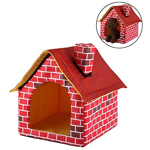 Pet Houses Zwinger Hundehütten Katze Cute Puppy Betten mit Mat Faltbare Pet Cave Sofa für Katzen und kleine Hunde -