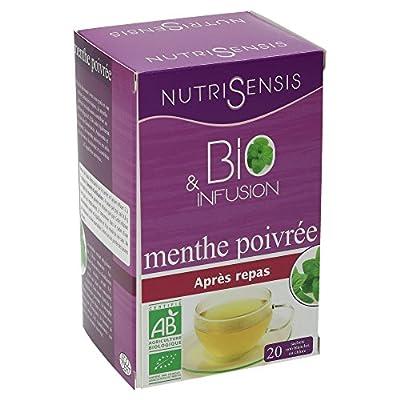 NutriSensis Menthe Poivrée Après Repas Infusions 20 Sachets 24 g - Lot de 3