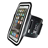 Digital Dukan Sports Armband Case compatible With Samsung Note 2 & 3,iPhone 6/ 6 Plus,Sony,Intex,LG,Microsoft and All Cell Phones of 5.7 Inch | Black