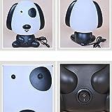 LEDMOMO Dibujos animados Animal de noche luz lindo lindo perro mesa lámpara niños durmiendo cama habitación noche lámpara (negro con enchufe de la UE)