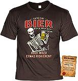 Bier-Sprüche T-Shirt - Partyshirt Saufen - Männer Bier-Shirt : EIN Tag ohne Bier würde Mich Nicht umbringen - Party T-Shirt Alkohol Gr: L