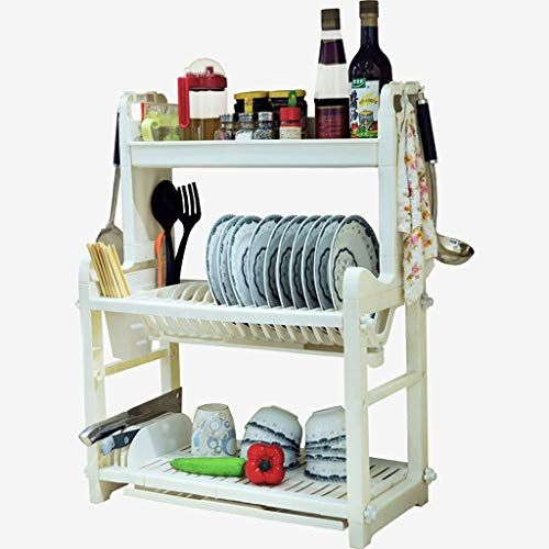 Lsjt shelf armadietto di stoccaggio multifunzionale delle stoviglie dello scaffale del piatto della cucina dello scaffale di stoccaggio stratificato della cucina