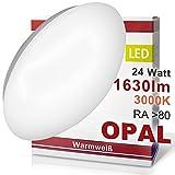 LED Wandleuchte Deckenleuchte OPAL Wandlampe Deckenlampe 24 Watt Warmweiß