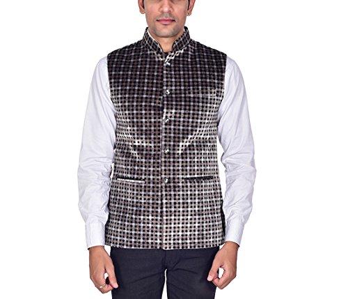 Ellegent Exports Men's Velvet Bandhgala Festive Nehru Jacket Waistcoat XL Special Eid...