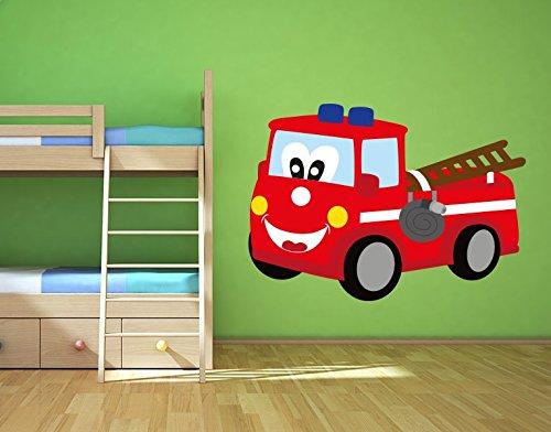 Preisvergleich Produktbild Wandsticker Feuerwehrauto B x H: 60cm x 43cm von Klebefieber®