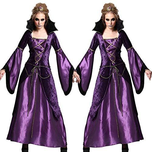 XUHAHAFZ Halloween-Kostüm/Party / Party / Noble / Temperament / Vampire / Stage Costume,Violet,Uniform Code
