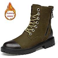 Lingqiqi Bota de Hombre Botines de tacón Alto Suaves Algodón Outsole Cremallera Zapatos de Trabajo Calientes (Convencional Opcional) Invierno (Color : Warm Khaki, tamaño : 39 EU)