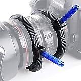 Mekingstudio Anillo de Engranaje de Enfoque de Seguimiento de Palanca Zoom Gear Focus Ring con Empuñadura de Aleación de Aluminio para DSLR Cámara Réflex Digital Canon Nikon Sony Pentax Panasonic Fujifilm Olympus Videocámara