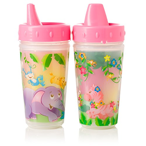evenflo-feeding-zoo-friends-insulated-sippy-cups-pink-300ml
